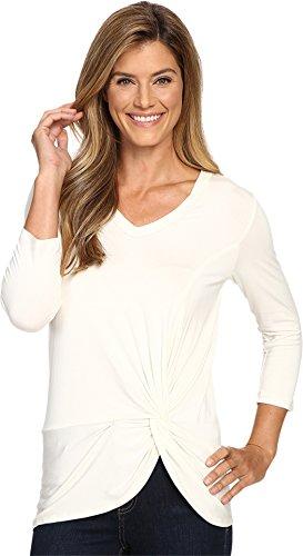 karen-kane-womens-v-neck-side-twist-top-cream-shirt