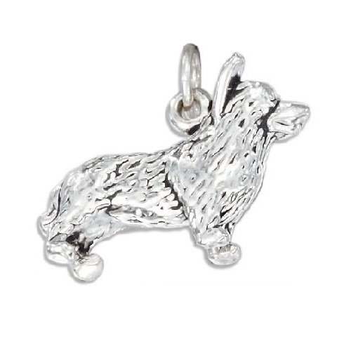 Sterling Silver Corgi Dog Charm Nature Lovers Animal Jewelry for Bracelet or Necklace