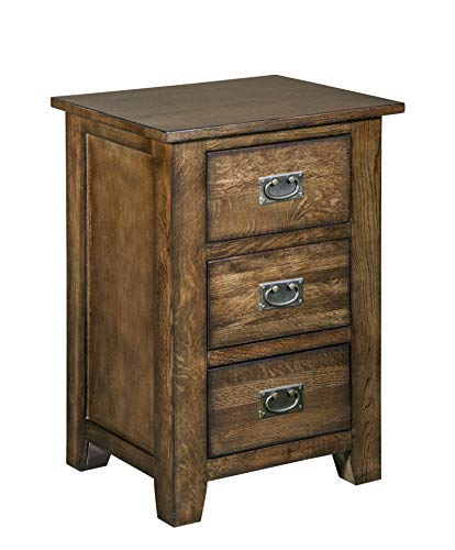Mission Quarter Sawn White Oak 3-Drawer Nightstand, End - Quarter Oak Sawn Tables