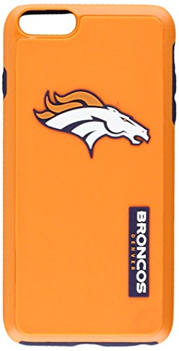 (Forever Collectibles - Licensed NFL Cell Phone Case for Apple iPhone 6 Plus / 6s Plus - Retail Packaging - Denver Broncos)