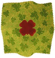 Shamrock Shaped Rocking Rosin Cello Rosin Pack with Premium Cello Cleaning Cloth