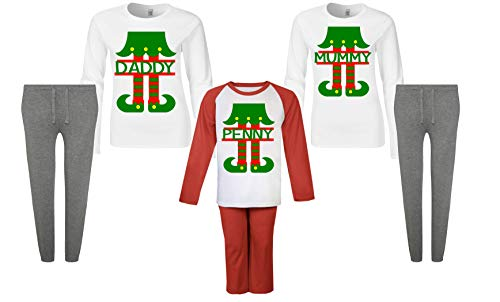 Personalised Matching Family Elf Christmas Pyjamas Winter PJ s Christmas  Pyjamas Toddler Pyjamas Xmas 2018 Boys Pjs Girls Christmas Gifts Kids  ... 24736431d