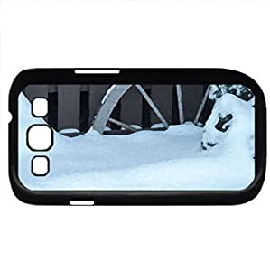 Winter Wheel (Winter Series) Watercolor style - Case Cover For Samsung Galaxy S3 i9300 (Black)