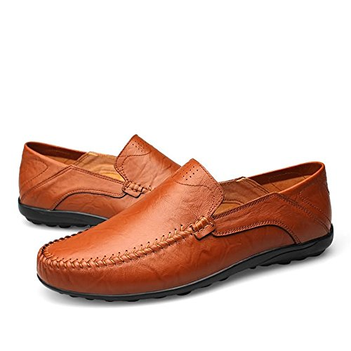 Shufang Red Brown de Hombre Papel para Mocasines Shoes 1xqw1TOa