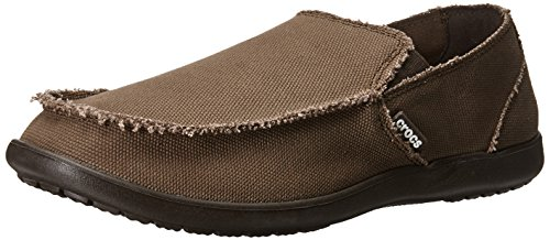 Casual Professional Shoes - Crocs Men's Santa Cruz Loafer, Casual Comfort Slip On, Lightweight Beach or Travel Shoe, Espresso, 14 US Men