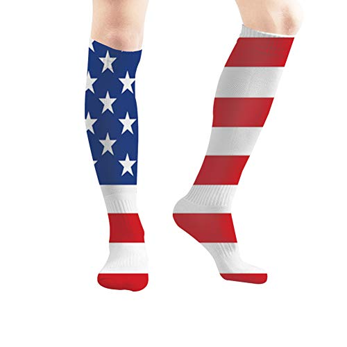Image American Flag Women's Men's Knee High