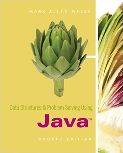 data structures and problem solving using java 4th edition 4 mark
