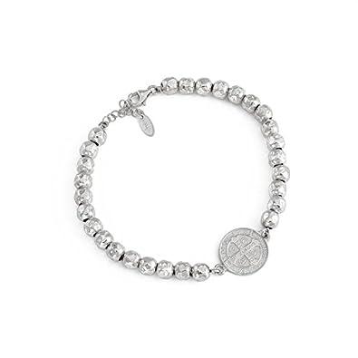 Bracelet homme argent blanc