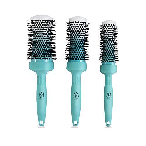Leyla Milani Hair - Hair Perfector - Round Brush Set, Wet Hair Brush, Boar Bristles, Nylon Bristles, Sensitive Scalp Brush - msrp $49