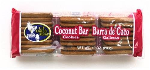 Lil' Dutch Maid Coconut Bar Cookies, 10-Ounce Package,  (Pack of 12)