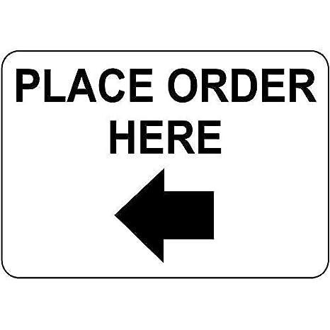Toddrick Quote Place Order Here W Left Arrow Cartel de Chapa ...