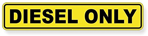 1 Pcs Excited Unique Diesel Only Window Sticker Sign Mac Macbook Laptop Luggage Hoverboard Wall Graphics Safety Oil Helmet Marker Stick Decor Vinyl Art Stickers Size 1-1/4'x6-1/4' Color Yellow-Black