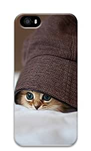 iPhone 5 5S Case Cute Kittens Hats Eye 3D Custom iPhone 5 5S Case Cover