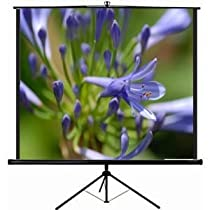 """VIVO 100"""" Portable Projector Screen, 100 Inch Diagonal Projection HD 4:3 Projection Pull Up Foldable Stand Tripod (PS-T-100)"""