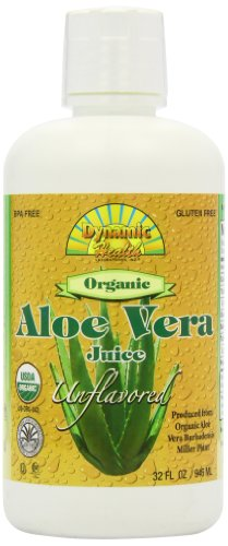 Dynamic Health certifié biologique Jus d'Aloe Vera, Unflavored ,, 32-once