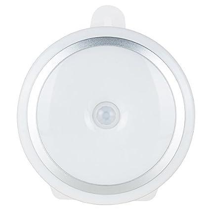 Sensor de movimiento eDealMax luz de la noche portátil con pilas 5 LED de seguridad inalámbrica ...