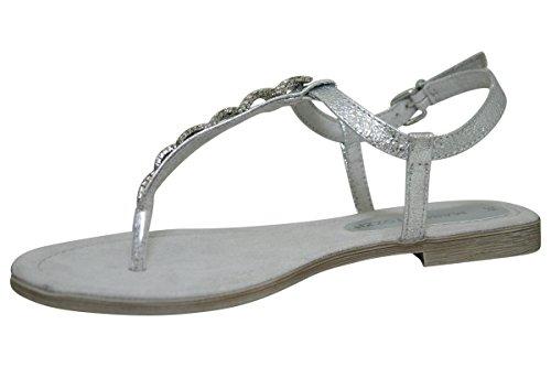 Silver 28403 Metallic Sandali con Tozzi Marco Donna Silber Zeppa PSB0xa
