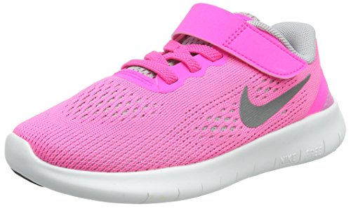 Galleon - NIKE Girlss Free RN (PSV) Running Shoes (Pink BlastMetallic  Silver, 12C)