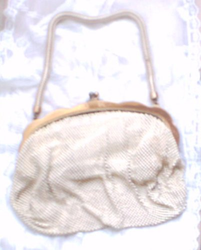 Vintage Whiting & Davis Enamel Mesh Bag Purse 60