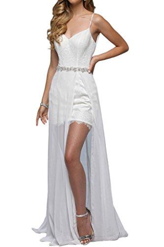 Royaldress Elegant Weiss spaghetti-traeger Spitze Hochzeitskleider ...