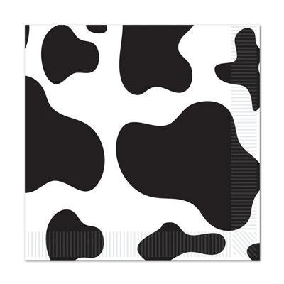 Cow Print Luncheon Napkins (Pack of 3) Cow Print Party Supplies