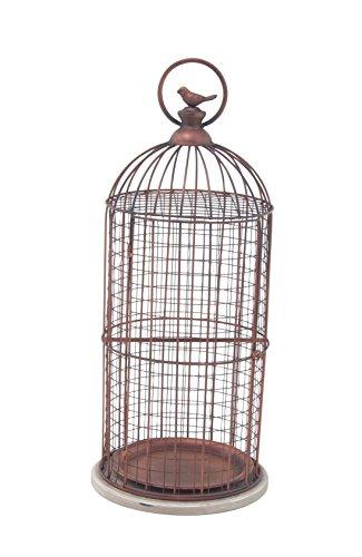 (Deco 79 94673 Decorative Bird Cage, Bronze/White)