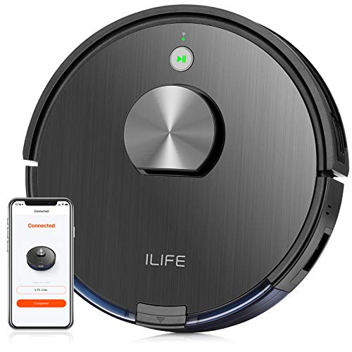 ILIFE A10 Lidar Robot Vacuum,Smart Laser Navigation and Mapping,2000Pa Strong Suction,Wi-Fi Connected,Multiple-Floor Mapping,2-in-1 Roller Brush,Ideal for Hard Floors to Medium-Pile Carpets.