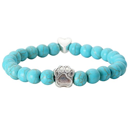 Vintage Healing Crystal Elastic Bracelets