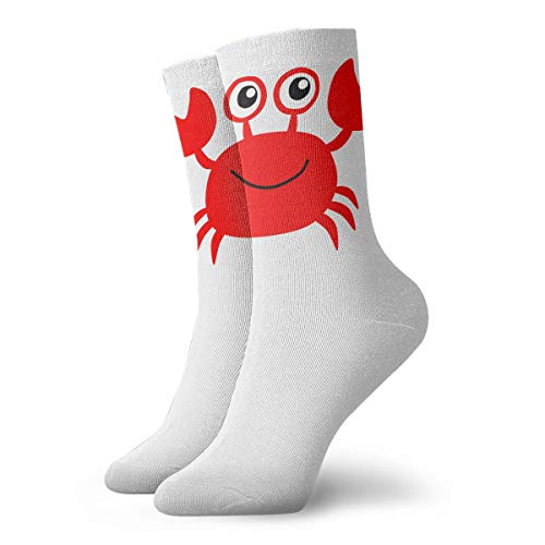 YUANSHAN Socks Red Crab Women & Men Socks Soccer Sock Sport Tube Stockings Length 11.8Inch ()