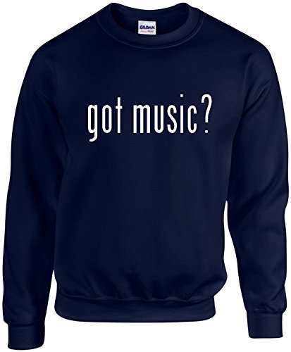 Adult Unisex Funny Crewneck Size L (GOT MUSIC? (WORK, CAREER SHIRT) Sweatshirt