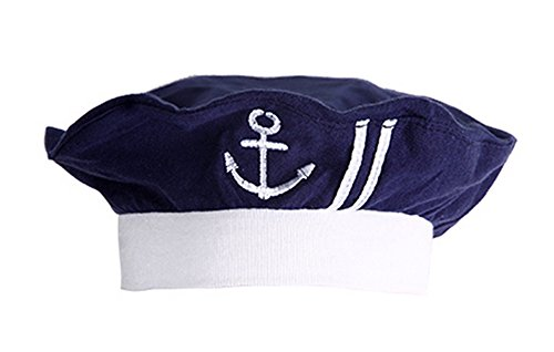 stylesilove Newborn Infant Nautical Sailor Embroidered Baby Boy Hat, 3-12 Months (Navy ()