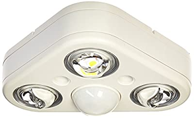 All Pro Outdoor Security REV32750MW Revolve LED Triple Head 270 Degree Motion Security Light, 2400 lm, White, 5000K