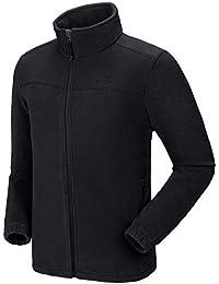 Men's Fleece Jackets with Pockets Soft Long Sleeve Full Zip Fleece Coat for Spring Outdoor