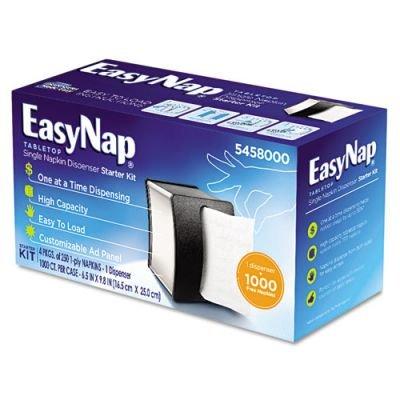 EasyNap Tabletop Napkin Dispenser Starter Kit, 5 x 9 x 14 3/4, Black (5458000) Georgia Pacific Corp. GEP5458000