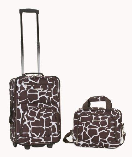 Rockland Luggage 2 Piece Set, Giraffee, Medium
