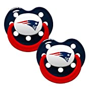 NFL Football 2014 Baby Infant Pacifier 2-Pack - Pick Team (New England Patriots - Holes)