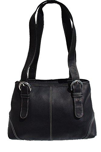 (Piel Leather Medium Buckle Handbag in)
