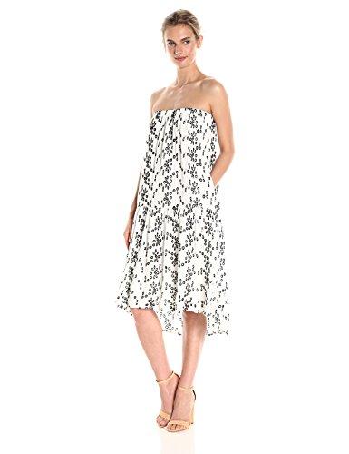 cream and black strapless dress - 5