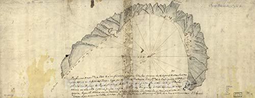 Historic 1700 Map   para fondear en este Pte. de la Ysla de Juan Fernandes y que DAR Libre, vas amanzar del N, de que se corten 24in x -