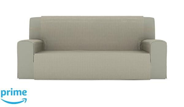 Eiffel Textile Lyon Cubre sofá 3 plazas, Algodón, Beige, 150 ...