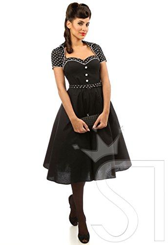 50años Rockabilly Petticoat vestido con Bolero & Cinturón c502795 schwarz (Sw 16)