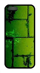Green Bricks TPU Case Cover for iPhone 5 and iPhone 5s Black