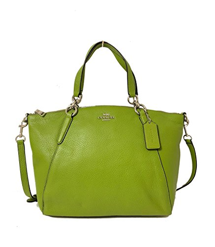Coach Women's Pebble Leather Small Kelsey Satchel No Size (Sv/Yellow Green)