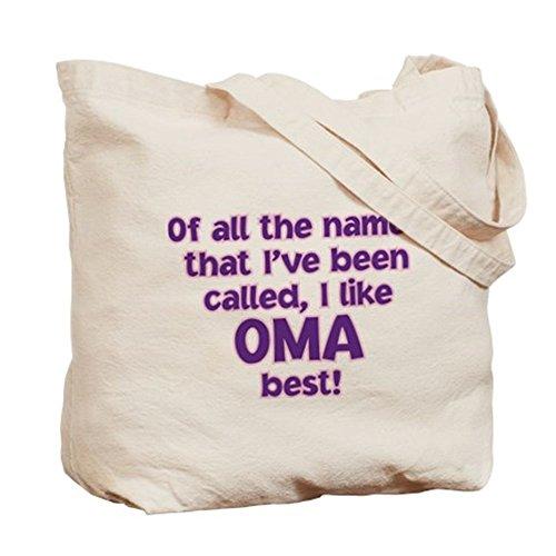 CafePress–I like chiamato Oma. Borsa di tela, colore naturale, panno borsa per la spesa
