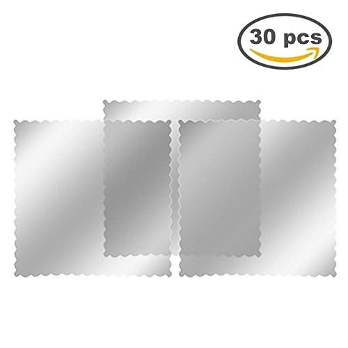 DGQ Car Auto Window Signal Clear Cling Static Sticker Film, Parking Permit Holder - Sticky Back - For Windshield (Clear, Pack of 30pcs)