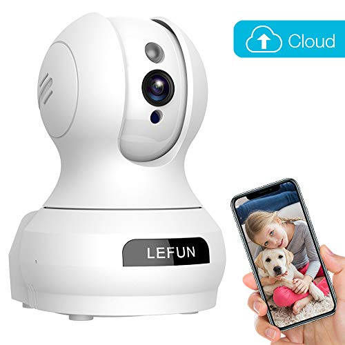 (Baby Monitor, LeFun Pet Camera Wireless IP Security WiFi Surveillance Camera with Cloud Storage Two Way Audio Pan/Tilt/Zoom Night Vision Motion Detect Remote Control for Home/Shop/Office)