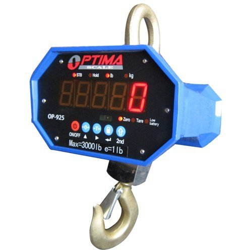 Optima Scales OP-925A-20000 Heavy-Duty Crane Scale - 20000 lbs x 10 lb. LED Display ()