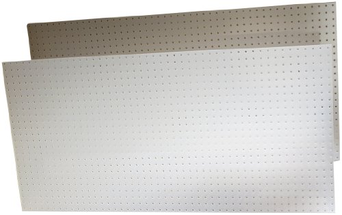 Triton Products 018-Kit DuraBoard 2)  22 Inch W x 18 Inch H x 1/8 Inch D White Polypropylene Pegboards with 22 pc. DuraHook Assortment and Wall Mounting Hardware by Triton 2 (Image #1)