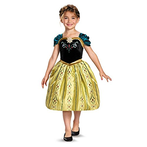 Frozen Dress For Girl (Disney's Frozen Anna Coronation Gown Classic Girls Costume, Small/4-6x)