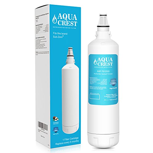 AQUACREST 7012333 Replacement Refrigerator Ice Maker Water Filter, Compatible with Sub-Zero 7012333 UC-15, Manitowoc K00374 (Package May ()